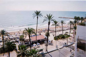 Sitges beach town